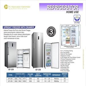 Dari Kulkas Rumah Tangga (Pembeku) / Upright Freezer with Drawer / GF-250 / GF-350 0