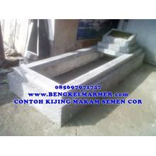 www.BENGKELMARMER.com Kijing Makam Granit Semen Cor