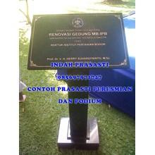 Prasasti Peresmian Bandung www.BENGKELMARMER.com