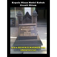 Mosque Headstone Model Black Granite