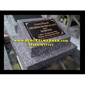 Contoh Ukiran Plakat Kepala Batu Nisan MODEL SEMEN COR Marmer Granit Hitam