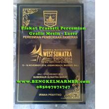 Percetakan Plakat Prasasti Peresmian Marmer Granit Hitam www.BENGKELMARMER.com