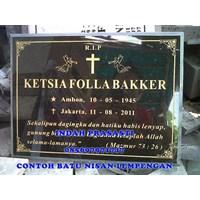 Jual www.BENGKELMARMER.com Plakat Batu Nisan Marmer Granit