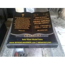 www.BENGKELMARMER.com Plakat Batu Nisan Makam Kuburan Model Buku Alquran Alkitab Marmer Granit Hitam TPU Karet Bivak Tanah Kusir Kampung Kandang Pemerintah Jakarta