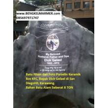 www.BENGKELMARMER.com Batu Nisan Bongpay Makam Kuburan Bahan Batu Alam Unik Menarik Mewah San Diego Hill Karawang. Milik Bos KFC Indonesia