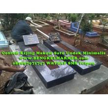 www.BENGKELMARMER.com Informasi Harga Contoh Bodi Kijing Makam Satu Trap Undak Marmer Granit Hitam Terbaru Termurah Terlengkap