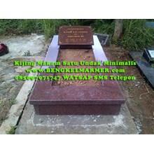 www.BENGKELMARMER.com Contoh Informasi Harga Bodi Kijing Makam Kuburan Minimalis Model Bentuk Satu Trap Undakan Terbaru Termurah
