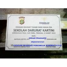 www.BENGKELMARMER.com Biaya Pembuatan Plakat Prasasti Peresmian Marmer Granit Termurah Terbaru