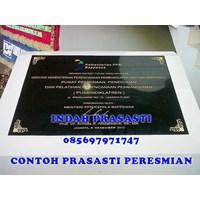 Black Granite Engraving Monument Inauguration Event Jakarta Indonesia