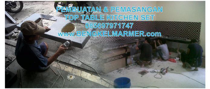 Jual pasang meja dapur top table for Harga pasang kitchen set