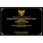 www.BENGKELMARMER.com Contoh Plakat Prasasti Peresmian Rumah Sakit Umum Daerah Marmer Granit 1