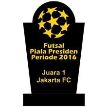 Plakat Piagam Piala Untuk Kompetisi Sepakbola Futsal Bahan Kristal Akrilik Marmer Granit Murah Jakarta