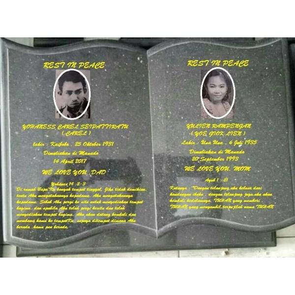 Batu Nisan dan Monumen Plakat Prasasti Kuburan Marmer Granit Untuk Kristen Nasrani Salib Pemakaman Kuburan Jakarta SUrabaya Medan Bandung