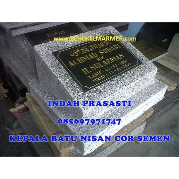 www.bengkelmarmer.com Batu Nisan dan Monumen Plakat Prasasti Pemakaman Kuburan Murah Jakarta Utara