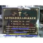 www.bengkelmarmer.com Batu Nisan dan Monumen Plakat Prasasti Pemakaman Kuburan Murah TPU KARET BIVAK JAKARTA 2
