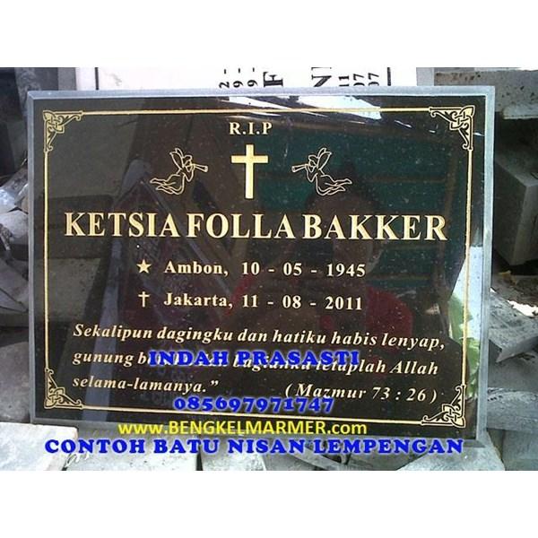 www.bengkelmarmer.com Batu Nisan dan Monumen Plakat Prasasti Pemakaman Kuburan Murah TPU KARET BIVAK JAKARTA