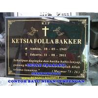 Jual www.bengkelmarmer.com Batu Nisan dan Monumen Plakat Prasasti Pemakaman Kuburan Murah TPU JERUK PURUT 2