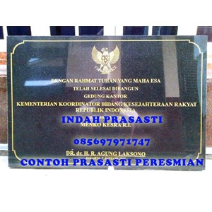 www.bengkelmarmer.com Batu Prasasti Plakat Peresmian Presiden Kementerian Jakarta Selatan
