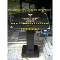 Distributor www.bengkelmarmer.com Batu Prasasti Plakat Peresmian Presiden Kementerian Bekasi 3