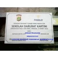 Distributor www.bengkelmarmer.com Batu Prasasti Plakat Peresmian Kantor Gedung Pabrik Presiden Kementerian Tangerang 3
