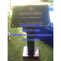 www.bengkelmarmer.com Batu Prasasti Plakat Peresmian Kantor Gedung Pabrik Presiden Kementerian Tangerang Murah 5
