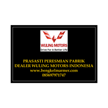 www.bengkelmarmer.com Batu Prasasti Plakat Peresmian Marmer Granit Pabrik Gedung Kantor Dealer Mobil Wuling Motor Depok Indonesia