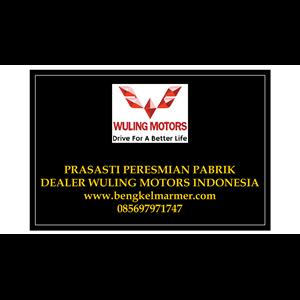 www.bengkelmarmer.com Contoh Harga Ukuran Batu Prasasti Plakat Peresmian Marmer Granit Pabrik Gedung Kantor Dealer Mobil Wuling Motor Kalimantan Indonesia