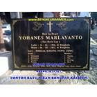 www.bengkelmarmer.com 085697971747 Pabrik Percetakan Pembuat Plakat Prasasti Batu Nisan dan Monumen Marmer Granit Bandar Lampung 5