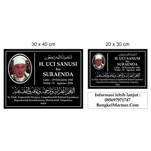 www.bengkelmarmer.com 085697971747 Pabrik Percetakan Pembuat Plakat Prasasti Batu Nisan dan Monumen Marmer Granit Bandar Lampung