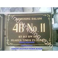 Grafir Granite Marble House Number