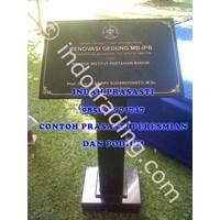 Bikin Buat Cetak Pesan  Beli Prasasti Podium Marmer Granit Stainless Steel Ipb Bogor 1