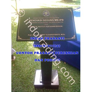 Bikin Buat Cetak Pesan  Beli Prasasti Podium Marmer Granit Stainless Steel Ipb Bogor