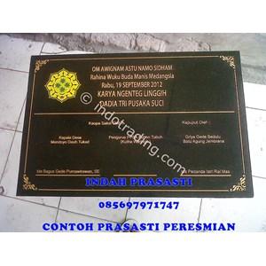Bikin Buat Cetak Pesan  Beli Prasasti Peresmian  Bali Logo Full Color Marmer Granit
