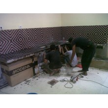 JASA PASANG KITCHEN SET MARMER