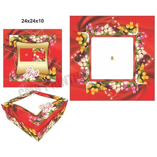 CAKE BOX / GIFT BOX READY STOCK SIZE 24 X 24 X 12 CM