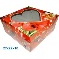 Print Packaging in Cake and Box Carton Cake with ready size 22 X 22