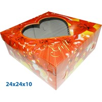 Print Packaging in Cake and Box Carton Cake with ready size 24 X 24cm