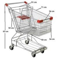 Jual Trolley Belanja Supermarket 60 liter troli 2