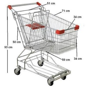 Dari Trolley Belanja Supermarket 60 liter troli 1