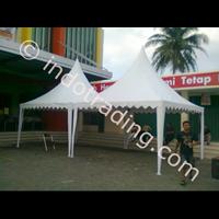 Tenda Kerucut Promosi Putih Polos 1