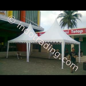 Tenda Kerucut Promosi Putih Polos