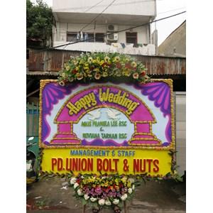 Papan Bunga Wedding Tipe 3