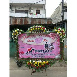 Papan Bunga Wedding Tipe 5