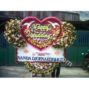 Papan Bunga Wedding Tipe 7