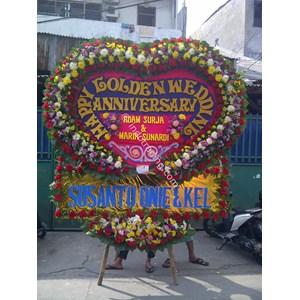 Papan Bunga Wedding Tipe 9