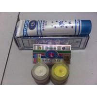 Jual Obat Krim Pemutih Wajah Alami Permanen Cream Memutihkan Kulit Wajah Dan Merawat Muka Secara Alami Cream Perawatan Wajah Muka Tensung Whitening + Sabun Pemutih 2