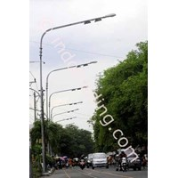 Distributor Tiang Lampu Pju Oktagonal Single  3