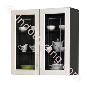 Lemari Dapur 2 Pintu Atas Kaca  (Series Mutiara) Kkd 010880