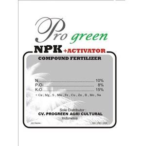 Pupuk Npk + Activator Pro Green
