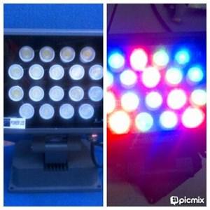 Lampu Sorot 18 Watt RGB Kotak